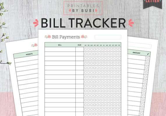 Monthly-Bill-Spreadsheet